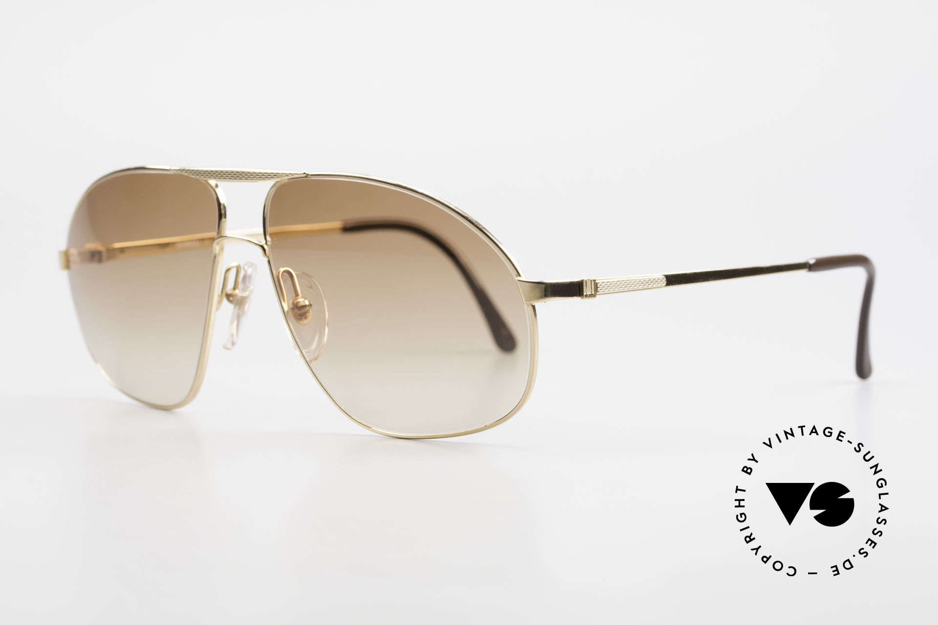 Dunhill 6125 Gold Plated Aviator Frame 90's, hardgold-plated and BARLEY: hundreds of minute facets, Made for Men