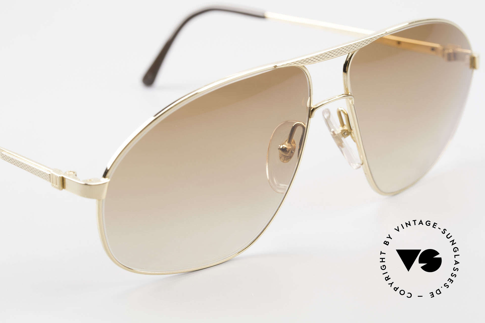 Dunhill 6125 Gold Plated Aviator Frame 90's, unworn (like all our rare vintage Alfred Dunhill eyewear), Made for Men