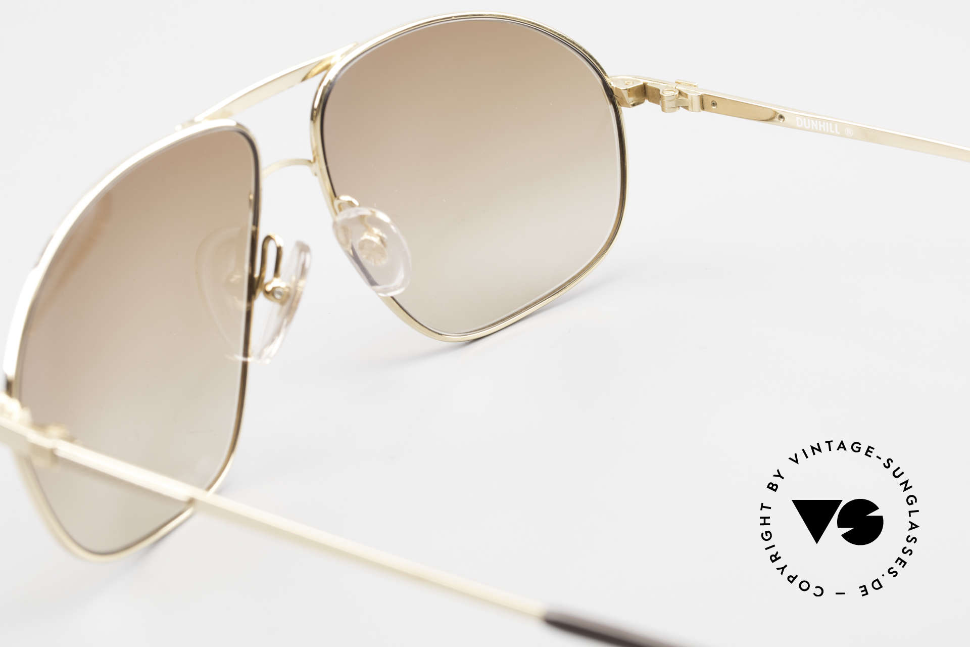 Dunhill 6125 Gold Plated Aviator Frame 90's, NO RETRO SUNGLASSES, but a precious old ORIGINAL!, Made for Men
