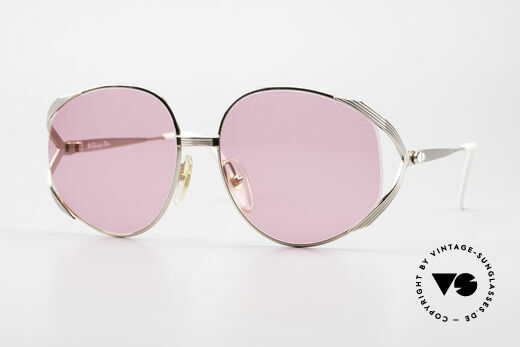 Christian Dior 2387 Ladies Pink 80's Sunglasses Details