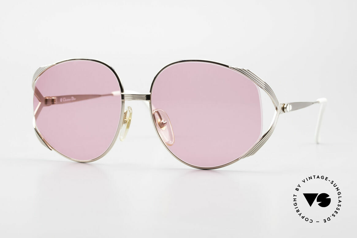 Christian Dior 2387 Ladies Pink 80's Sunglasses, flashy Chr. Dior designer sunglasses from 1989, Made for Women