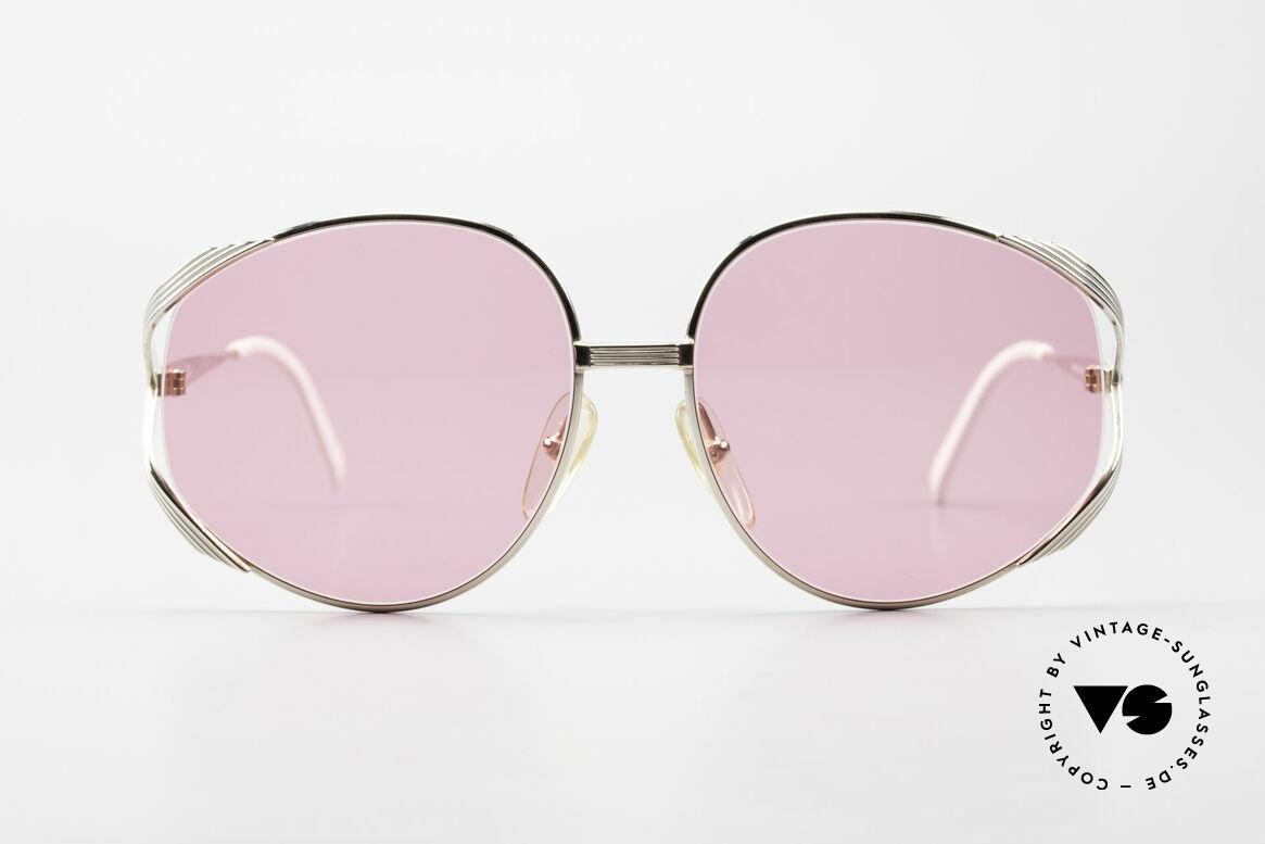 Christian Dior 2387 Ladies Pink 80's Sunglasses, feminine elegant design with oversized lenses, Made for Women