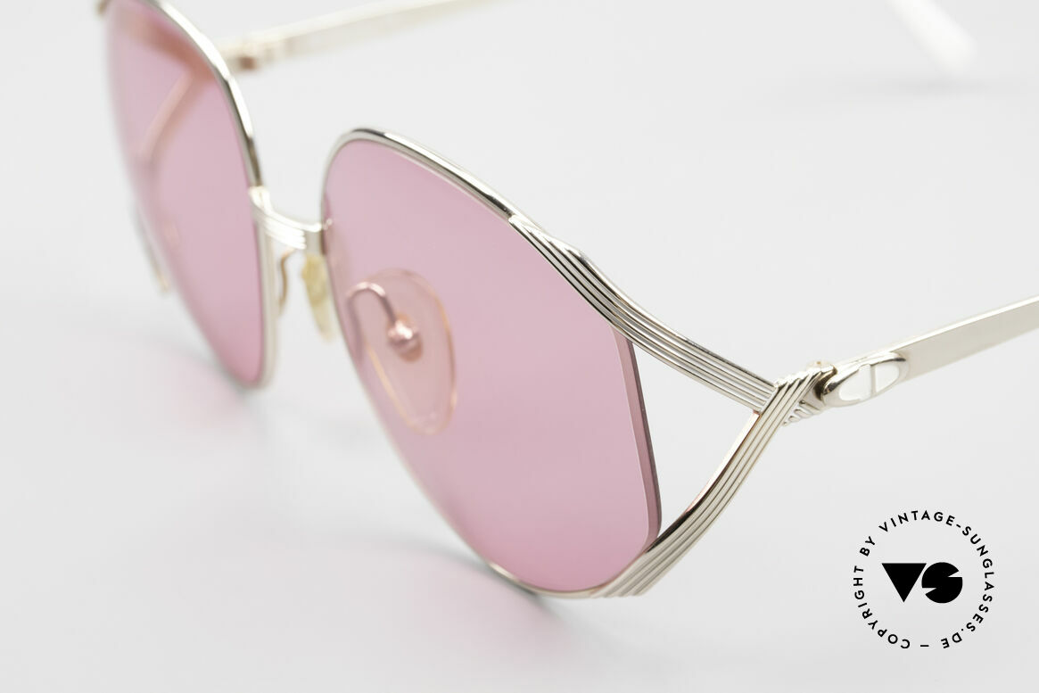Christian Dior 2387 Ladies Pink 80's Sunglasses, unworn (like all our vintage C. Dior sunglasses), Made for Women