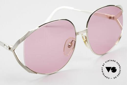 Christian Dior 2387 Ladies Pink 80's Sunglasses, fancy pink sun lenses (100% UV); EYE-CATCHER, Made for Women