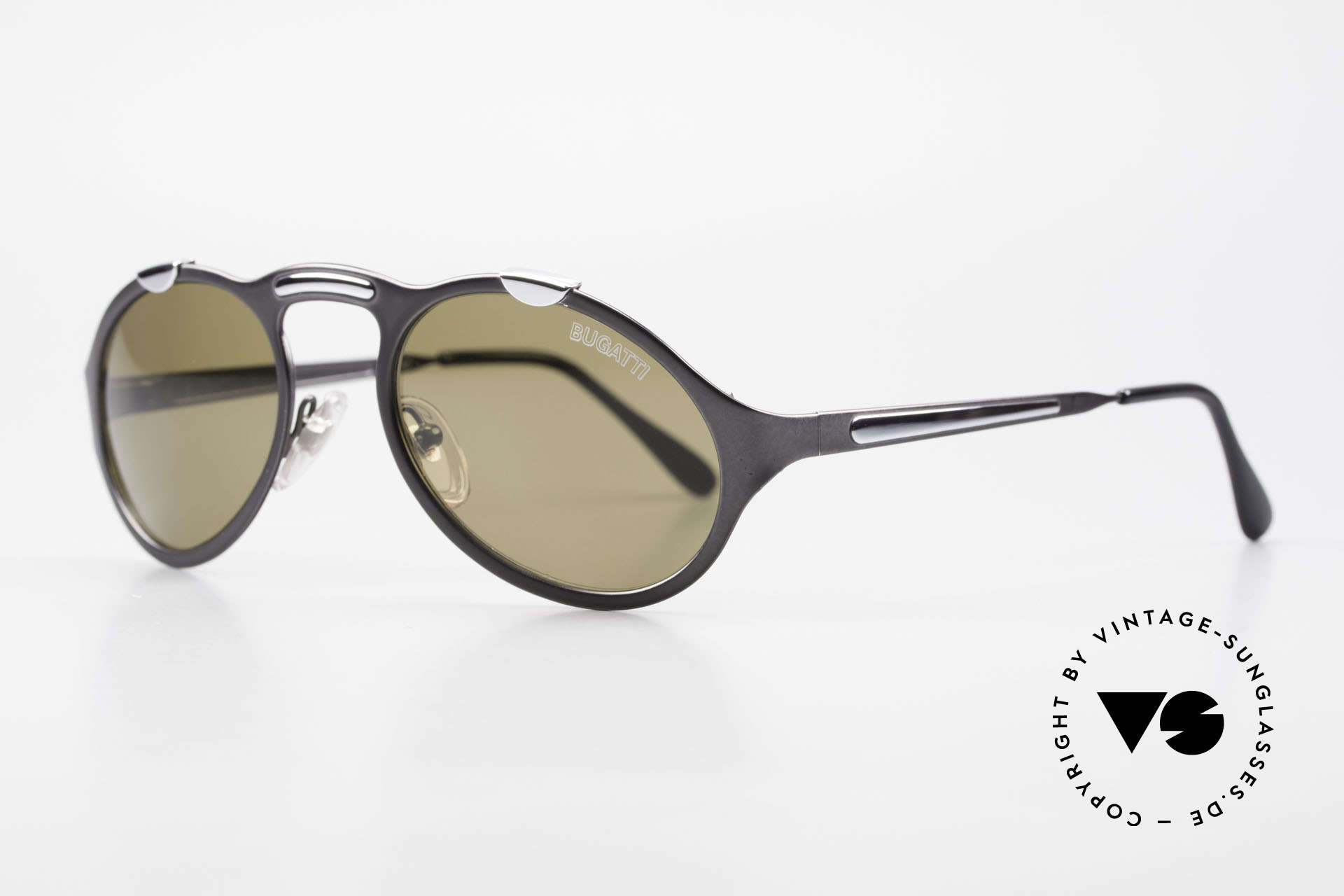 Bugatti 13152 Limited Rare Luxury 90's Sunglasses, ultra rare gray-metallic varnish, collector's item!, Made for Men