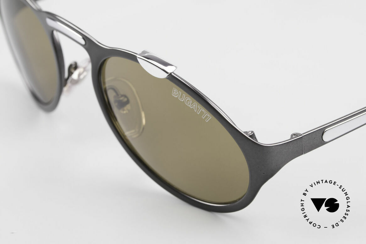 Bugatti 13152 Limited Rare Luxury 90's Sunglasses, limited edition (with Bugatti lettering on left lens), Made for Men