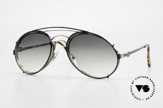 Bugatti 07823 Old 80's Glasses With Sun Clip Details