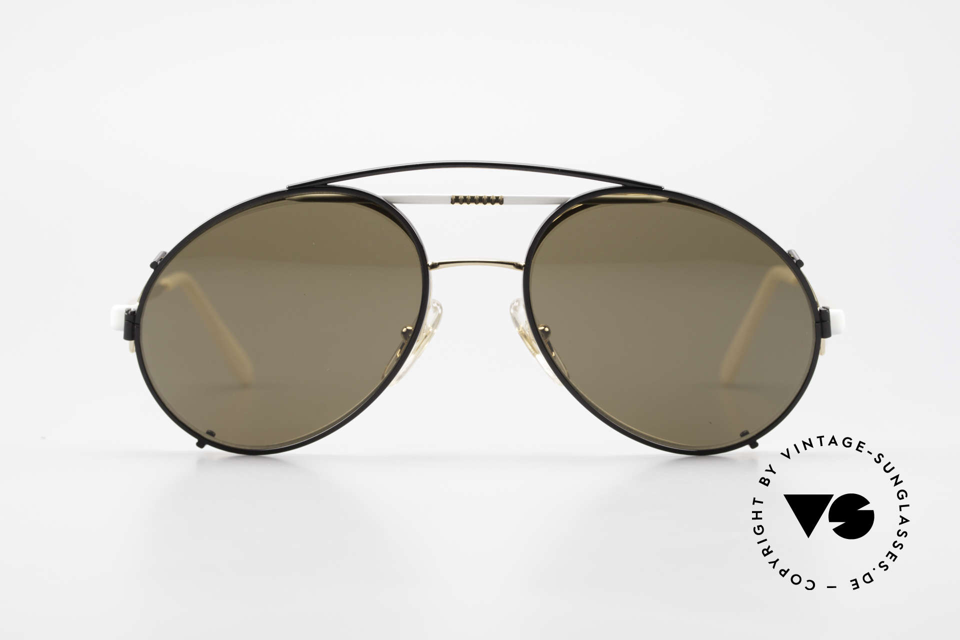 Bugatti 65787 Semi Rimless Frame With Clip, semi rimless (lenses are fixed with Nylor thread), Made for Men