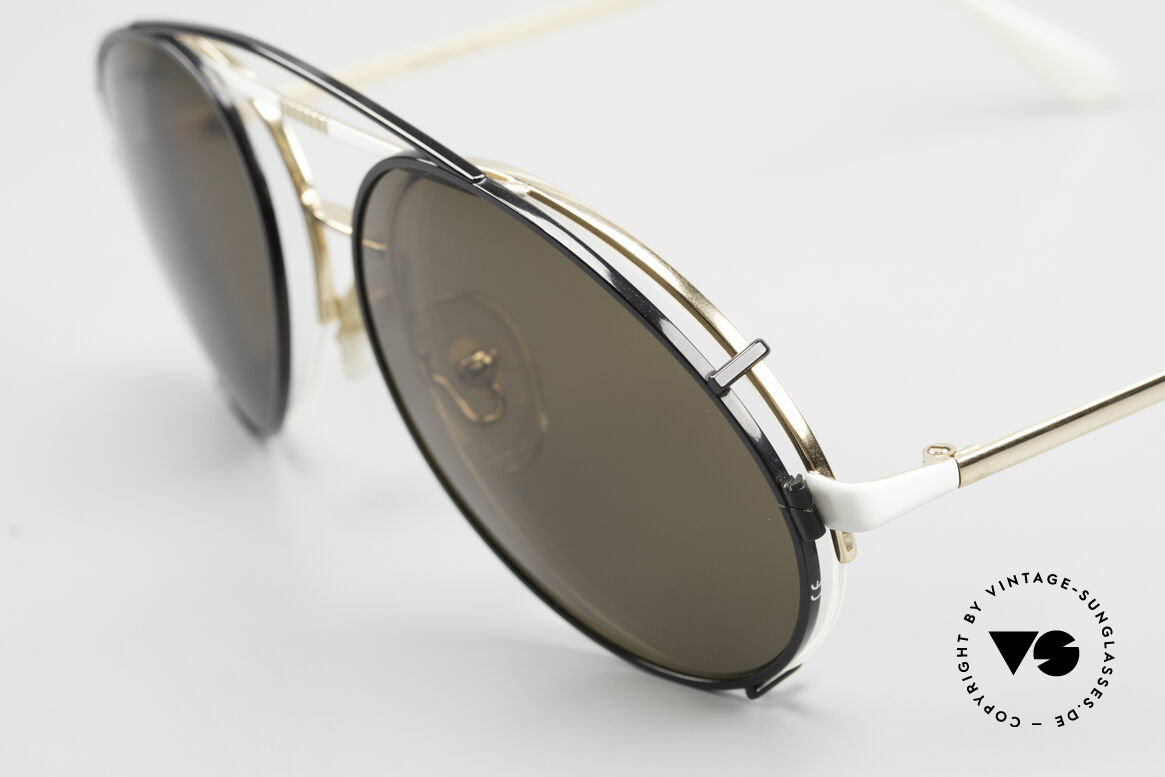 Bugatti 65787 Semi Rimless Frame With Clip, top-notch 1980's craftsmanship, made in France, Made for Men
