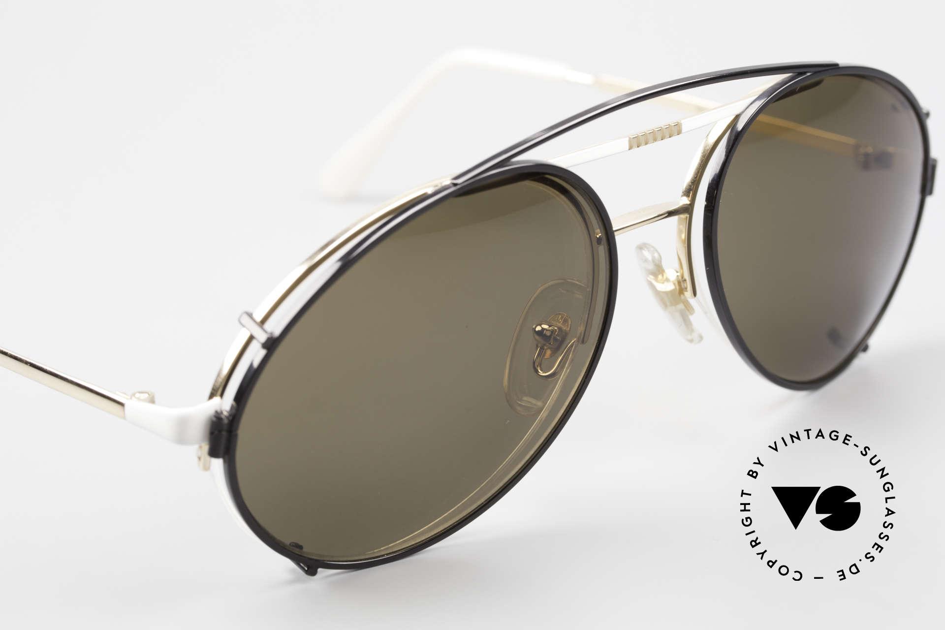 Bugatti 65787 Semi Rimless Frame With Clip, unworn (like all our rare vintage Bugatti eyewear), Made for Men