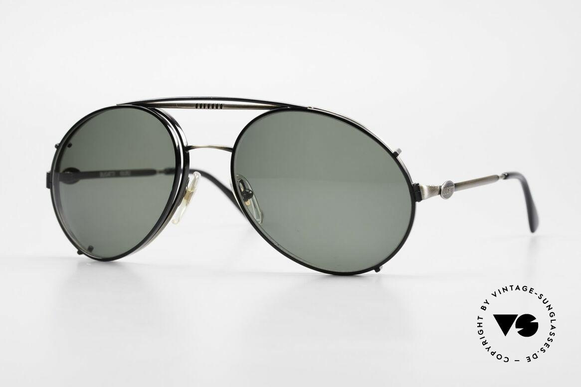 Bugatti 65282 Vintage Men's Glasses 1980's, rare VINTAGE Bugatti 80's luxury sunglasses, Made for Men