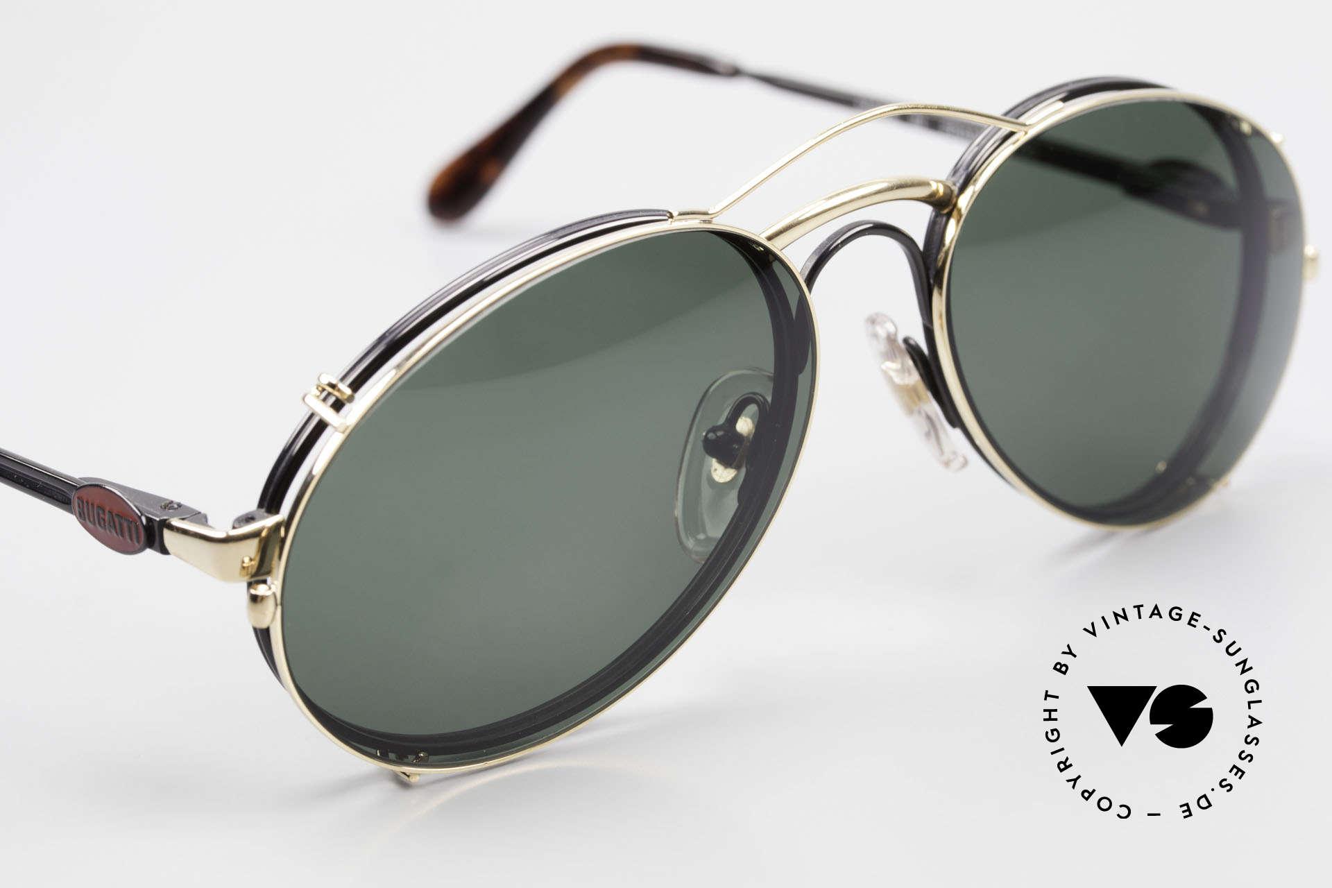 Bugatti 03327 Men's 80's Eyeglasses Clip On, unworn (like all our vintage Bugatti designer shades), Made for Men