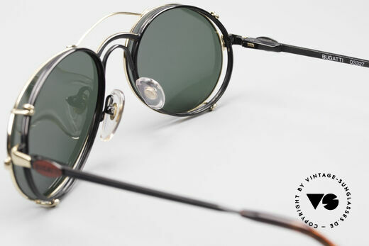 Bugatti 03327 Men's 80's Eyeglasses Clip On, NO RETRO fashion, but an authentic old 80's original, Made for Men