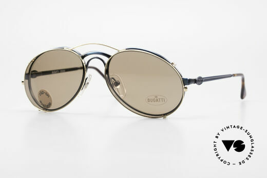Bugatti 03328 Men's 80's Clip On Sunglasses Details