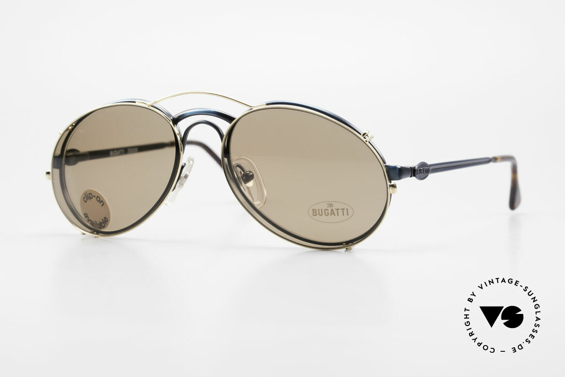 Bugatti 03328 Men's 80's Clip On Sunglasses, classic vintage Bugatti sunglasses from approx. 1989, Made for Men