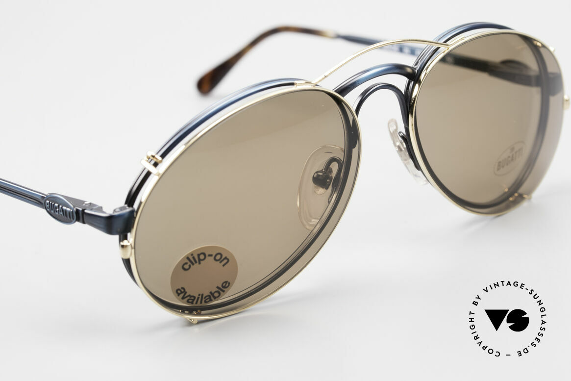 Bugatti 03328 Men's 80's Clip On Sunglasses, NO RETRO fashion, but an authentic old 80's original, Made for Men