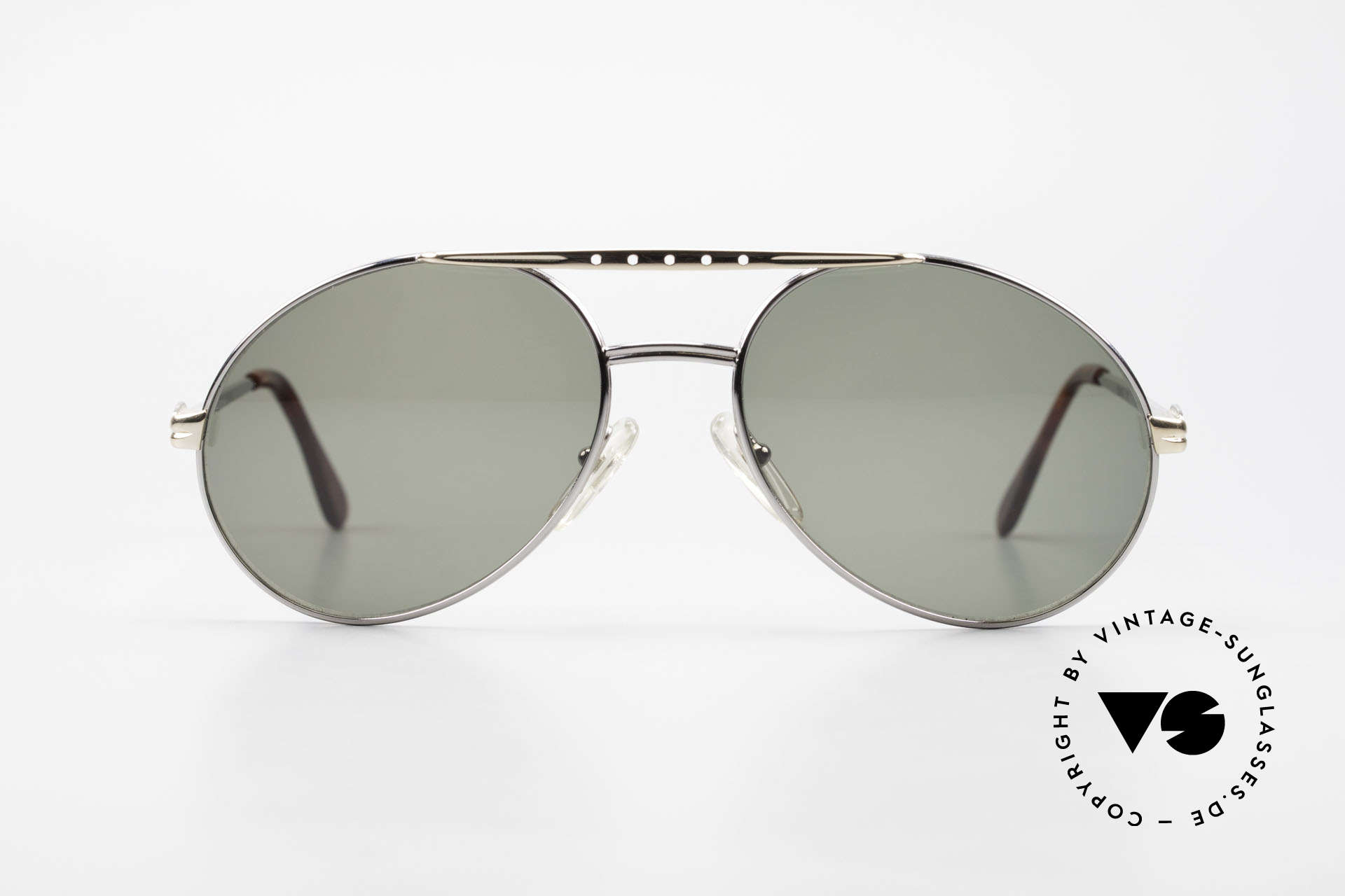 Bugatti 02926 80's Large Sunglasses For Men, made around 1985 in France (1st class spring hinges), Made for Men