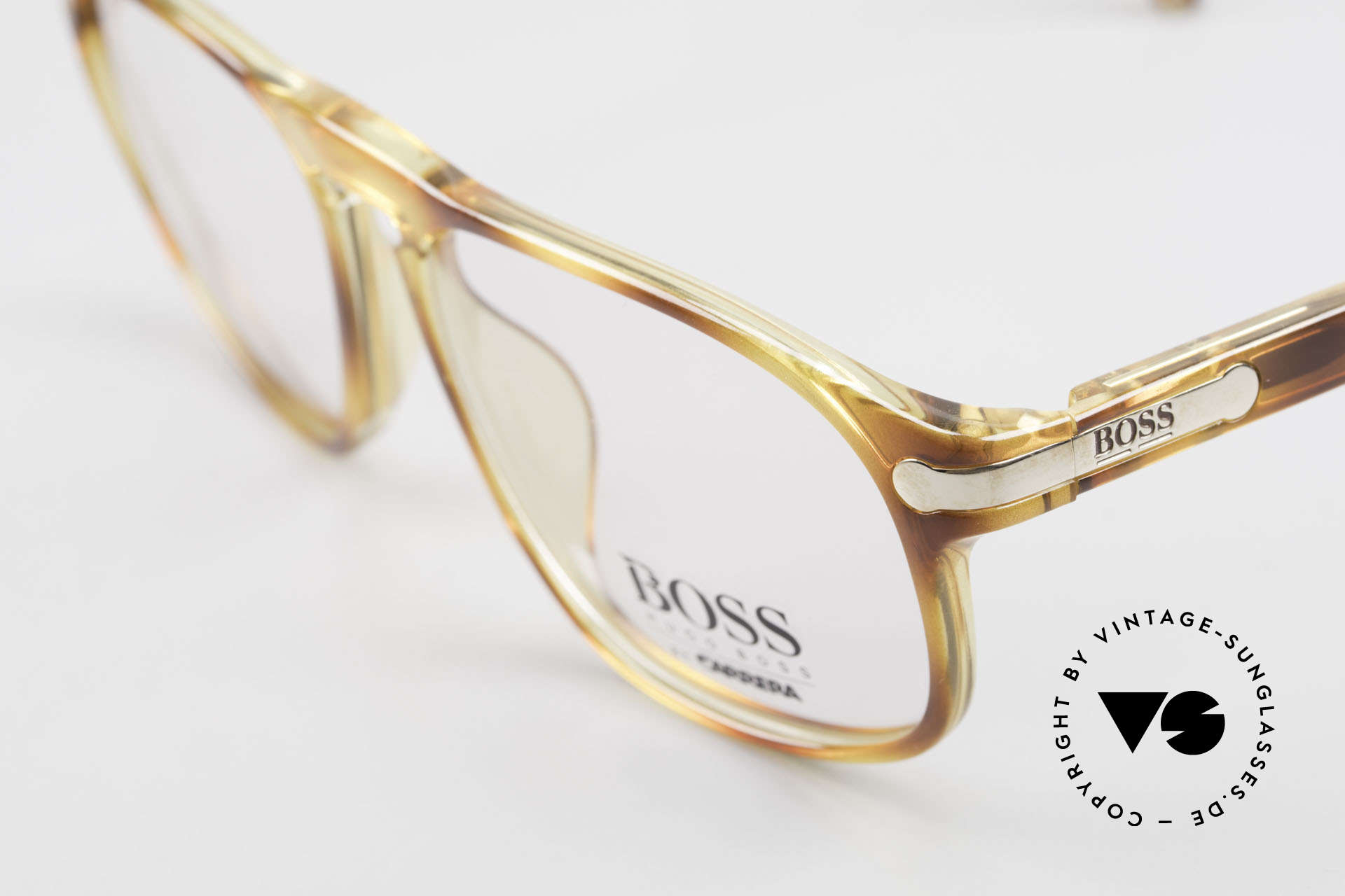 BOSS 5102 Square Vintage Optyl Glasses, typical 'Optyl shine' - as brilliant as just produced, Made for Men