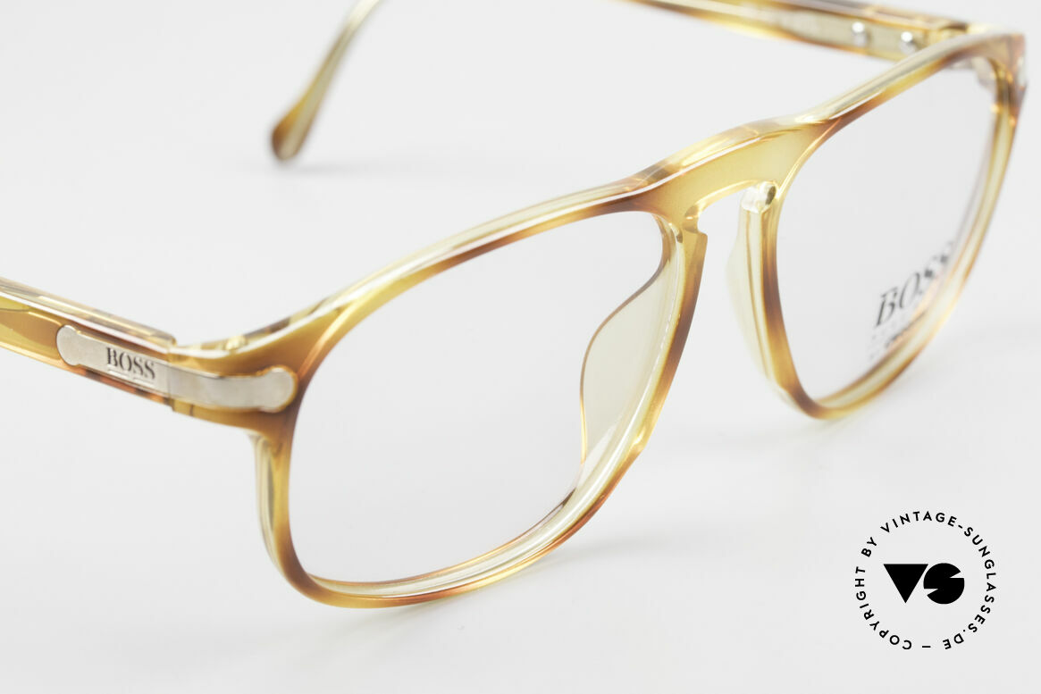 BOSS 5102 Square Vintage Optyl Glasses, extraordinary frame color/pattern (looks like horn), Made for Men