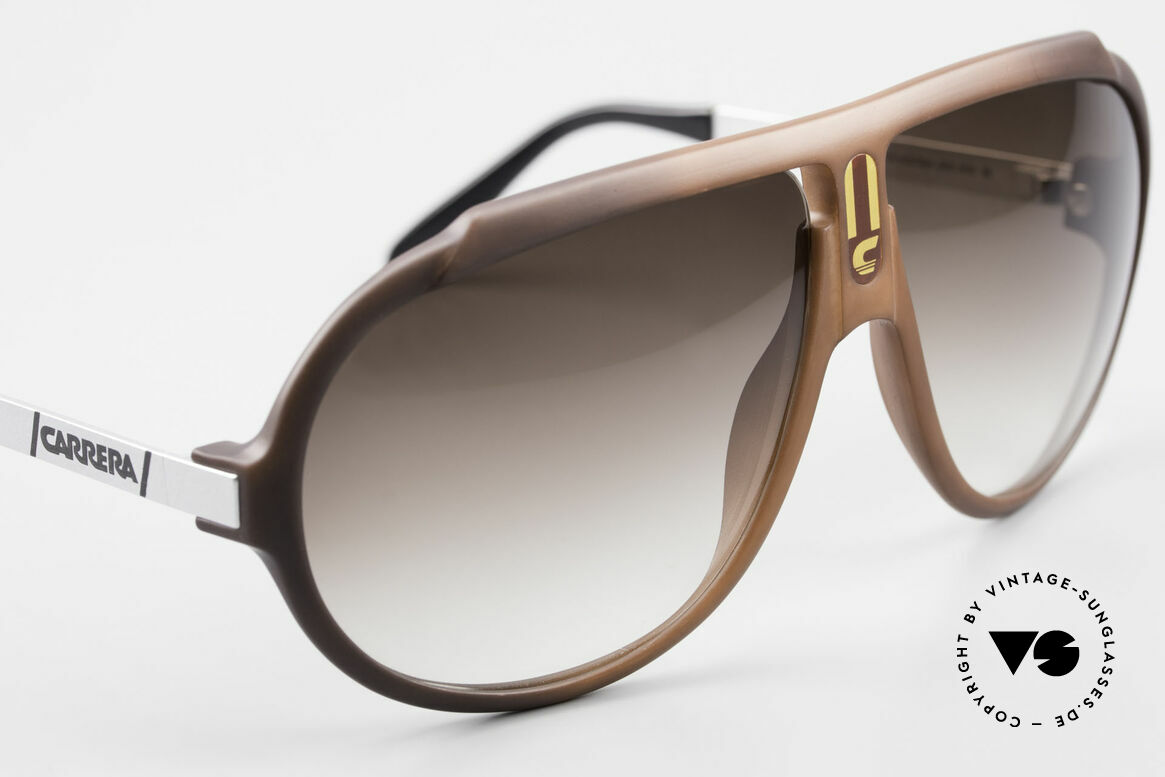 Carrera 5512 80's Don Johnson Sunglasses, unworn rarity with brown-gradient sun lenses (100% UV), Made for Men