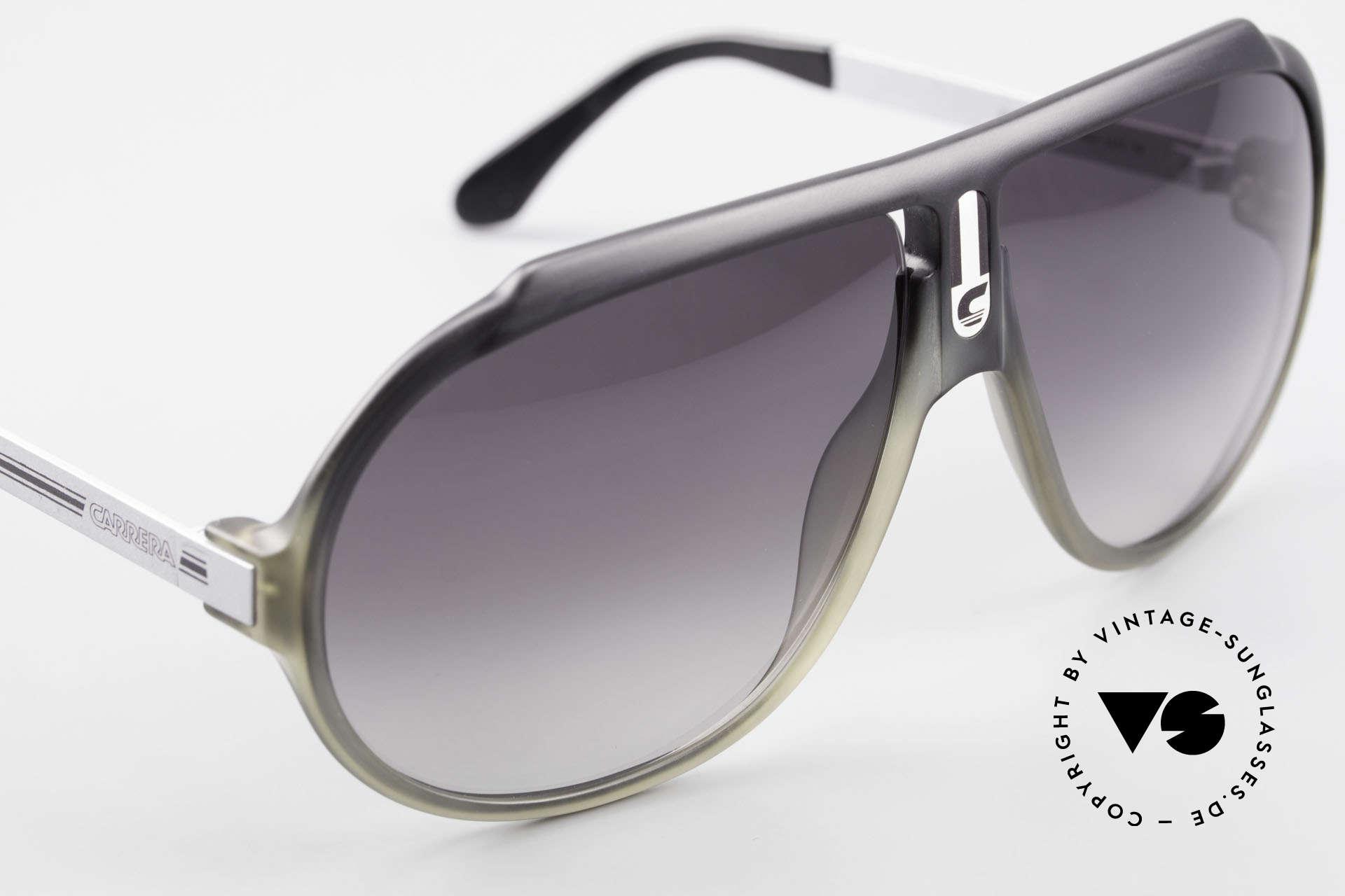 Carrera 5512 80's Miami Vice Sunglasses, unworn rarity with gray-gradient sun lenses (100% UV), Made for Men