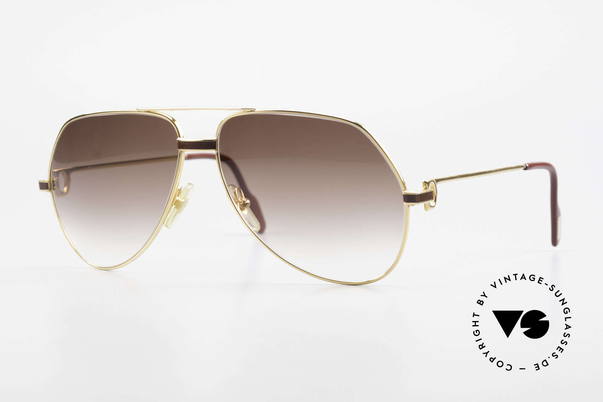 Cartier Vendome Laque - L Luxury Aviator Sunglasses, Vendome = the most famous eyewear design by CARTIER, Made for Men