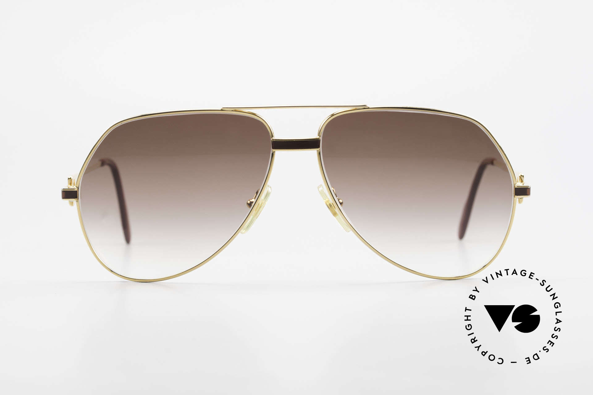 """Cartier Vendome Laque - L Luxury Aviator Sunglasses, mod. """"Vendome"""" was launched in 1983 & made till 1997, Made for Men"""