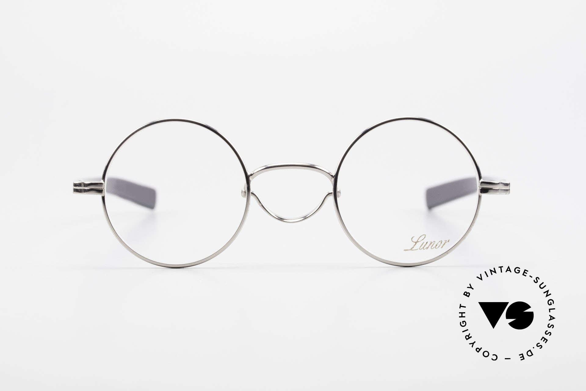 Lunor Swing A 31 Round Swing Bridge Vintage Glasses, traditional German brand; quality handmade in Germany, Made for Men and Women