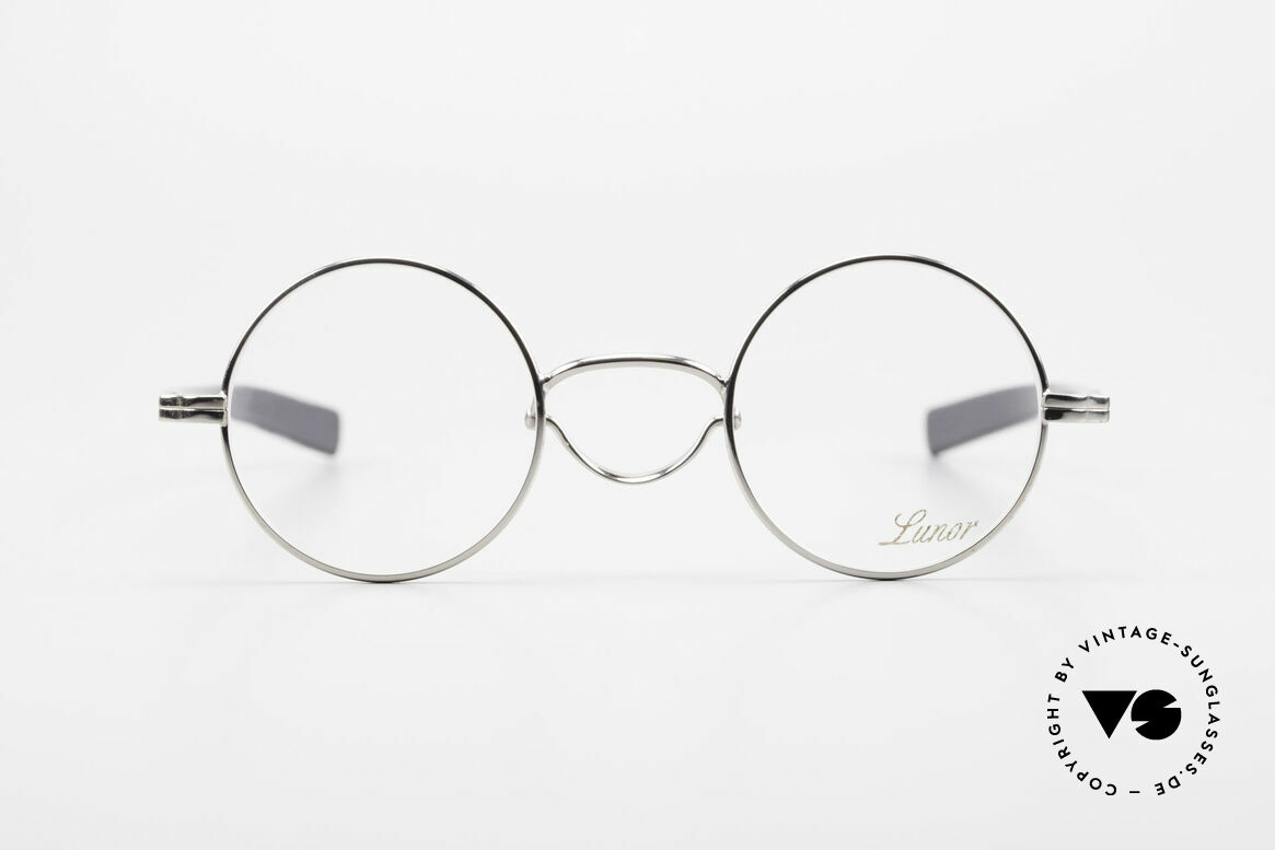"""Lunor Swing A 31 Round Swing Bridge Vintage Glasses, LUNOR: shortcut for French """"Lunette d'Or"""" (gold glasses), Made for Men and Women"""