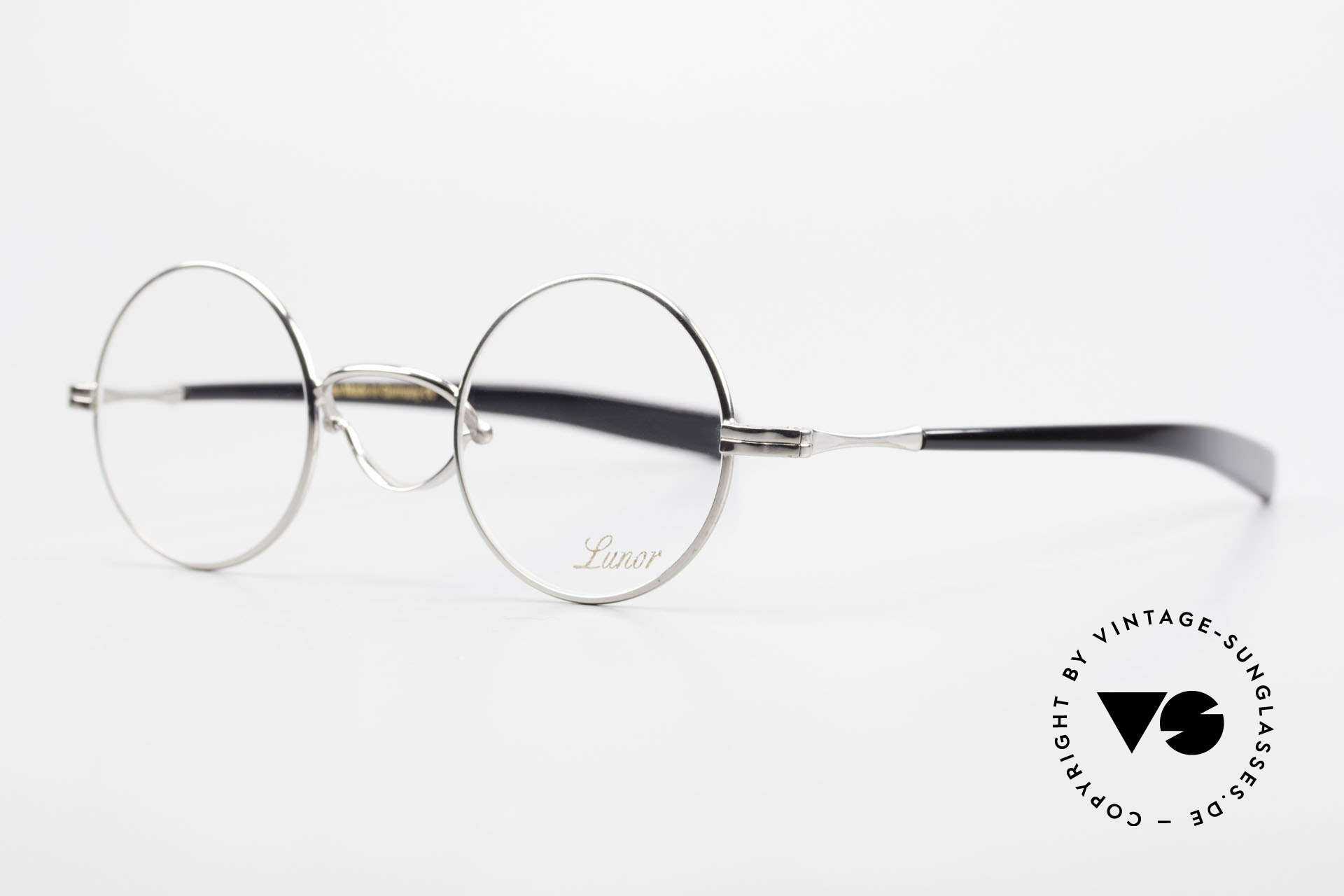 """Lunor Swing A 31 Round Swing Bridge Vintage Glasses, well-known for the """"W-bridge"""" & the plain frame designs, Made for Men and Women"""