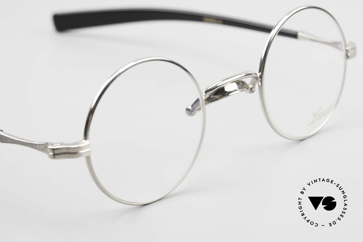 Lunor Swing A 31 Round Swing Bridge Vintage Glasses, swing bridge = homage to the antique glasses from 1900, Made for Men and Women