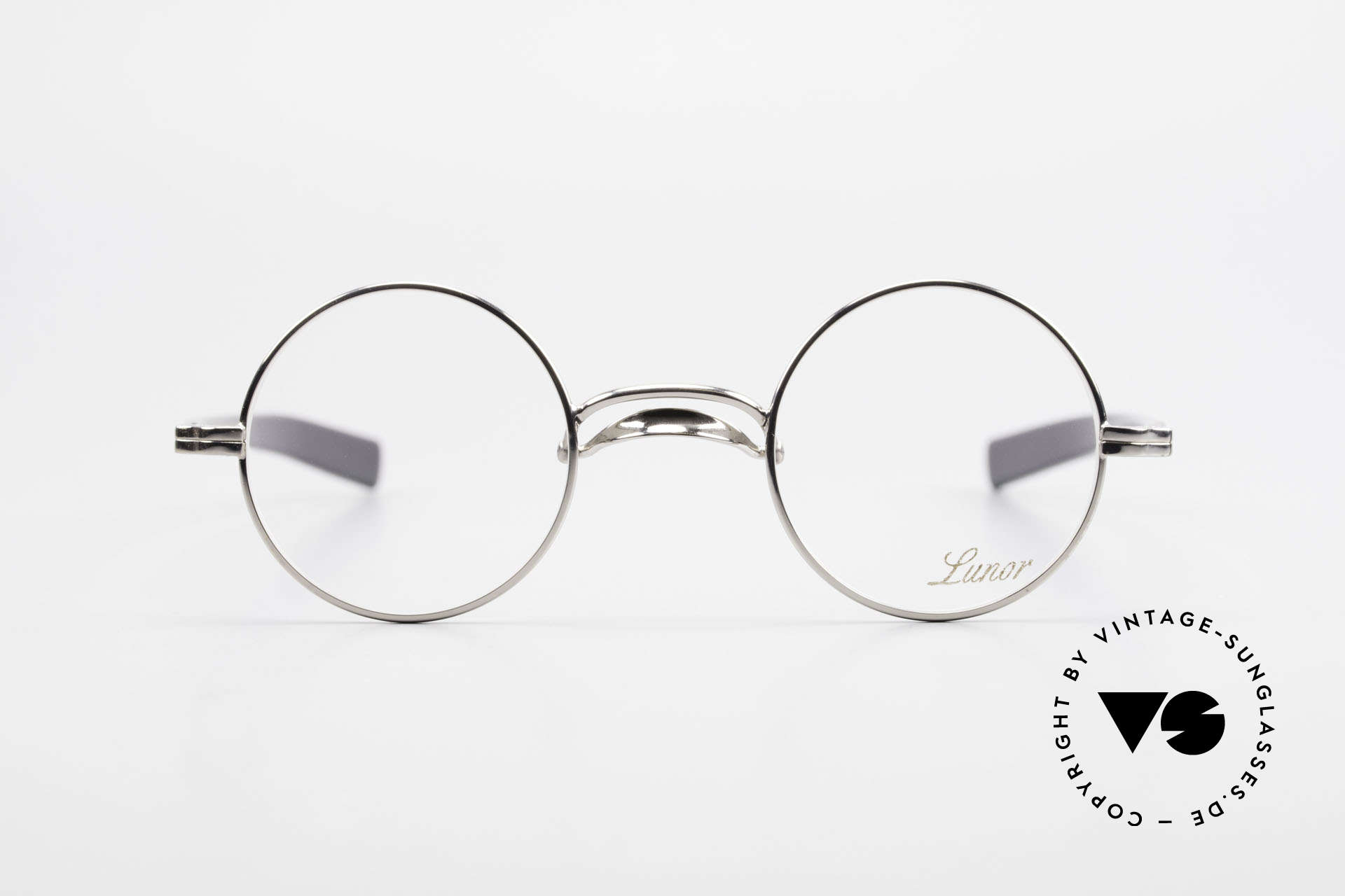 Lunor Swing A 31 Round Swing Bridge Vintage Glasses, FRAME is PLATINUM-PLATED'; truly sophisticated specs, Made for Men and Women