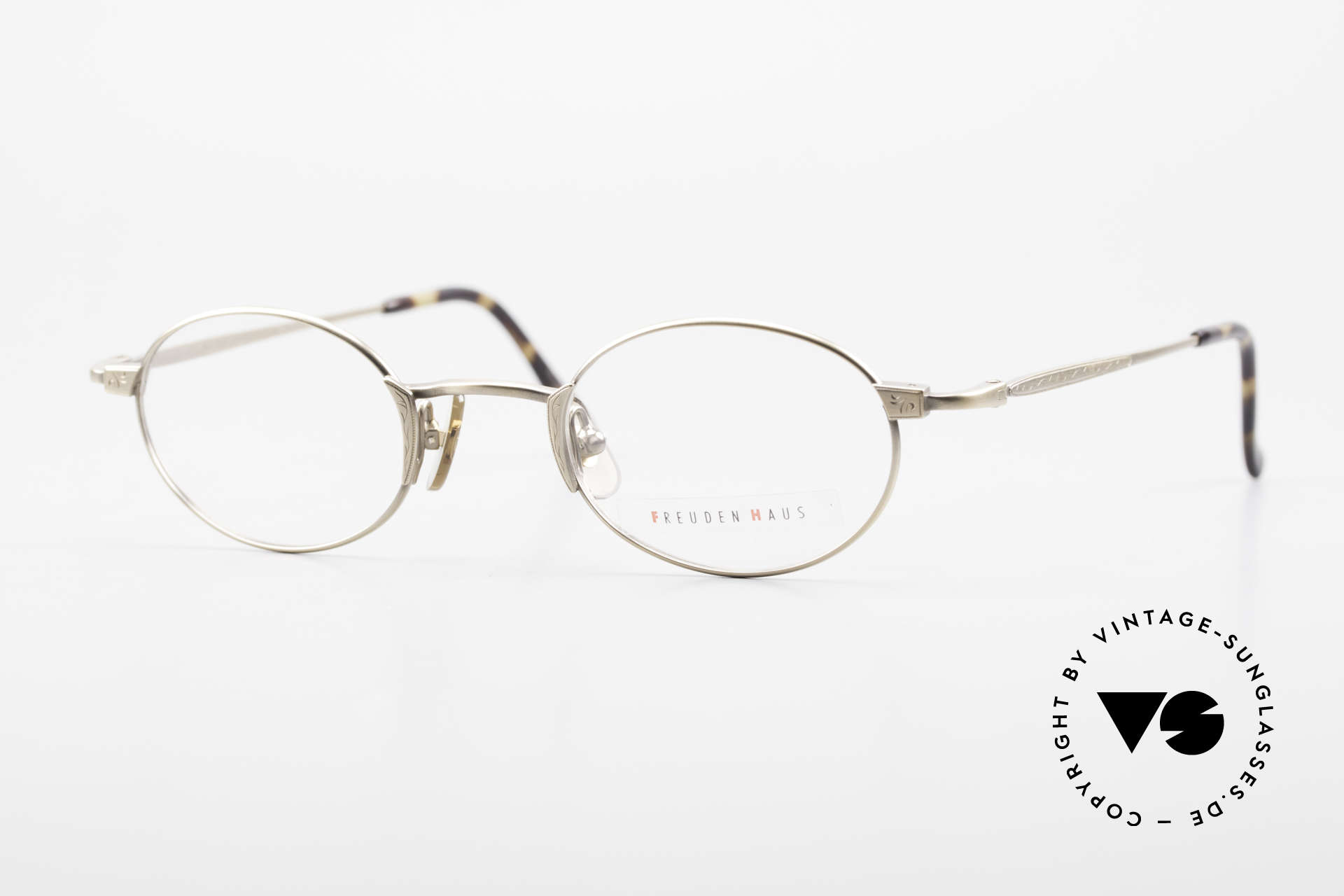 Freudenhaus Zaki Oval Titan Vintage Glasses, vintage designer glasses by FREUDENHAUS, Munich, Made for Men and Women