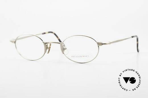 Freudenhaus Zaki Oval Titan Vintage Glasses Details