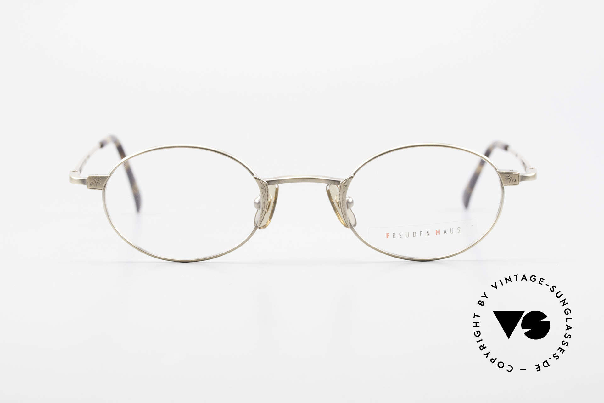 "Freudenhaus Zaki Oval Titan Vintage Glasses, 'Freudenhaus' means ""cathouse / house of pleasure"", Made for Men and Women"