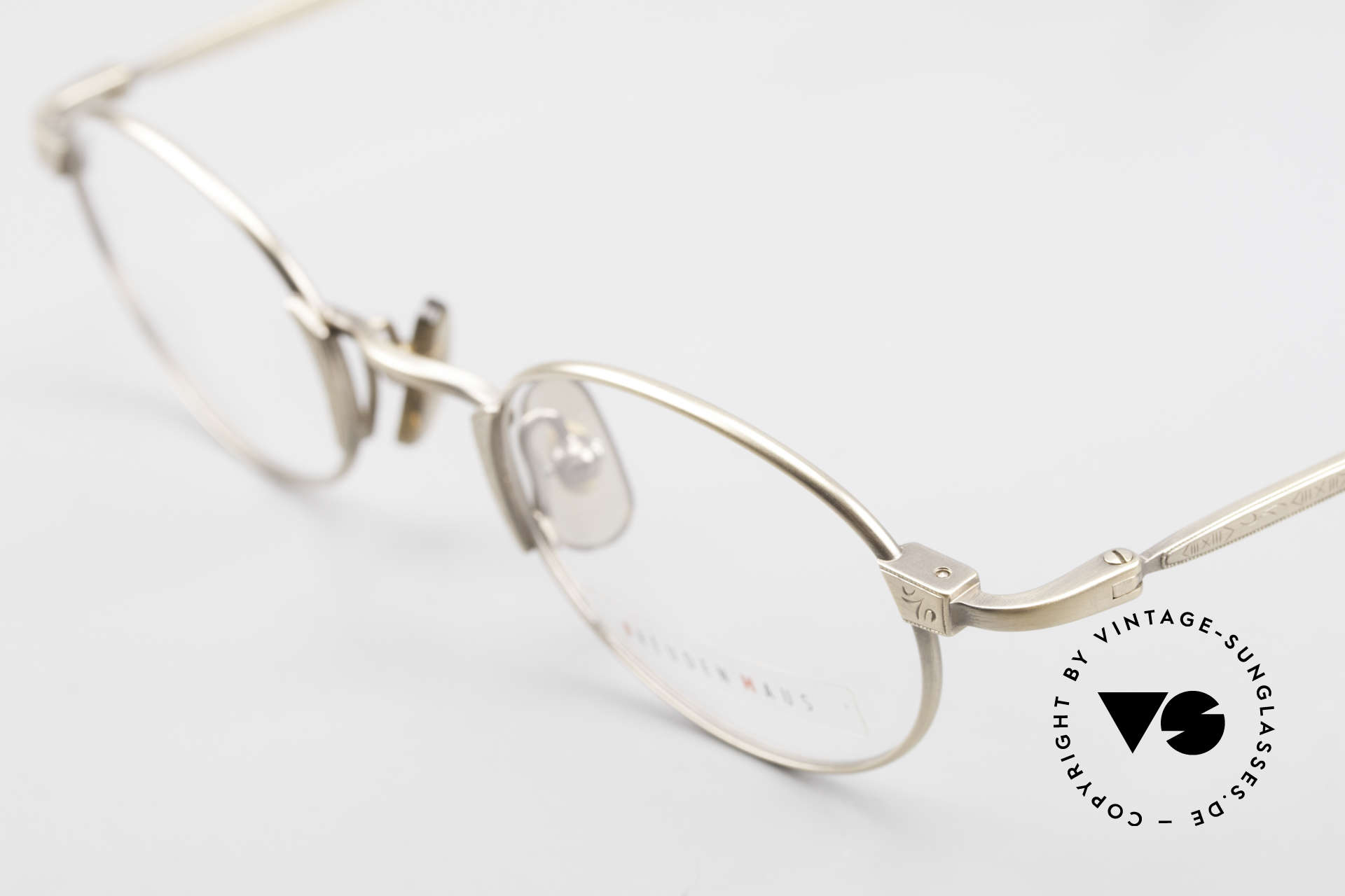 "Freudenhaus Zaki Oval Titan Vintage Glasses, high-end ""antique gold"" frame finish; just timeless, Made for Men and Women"