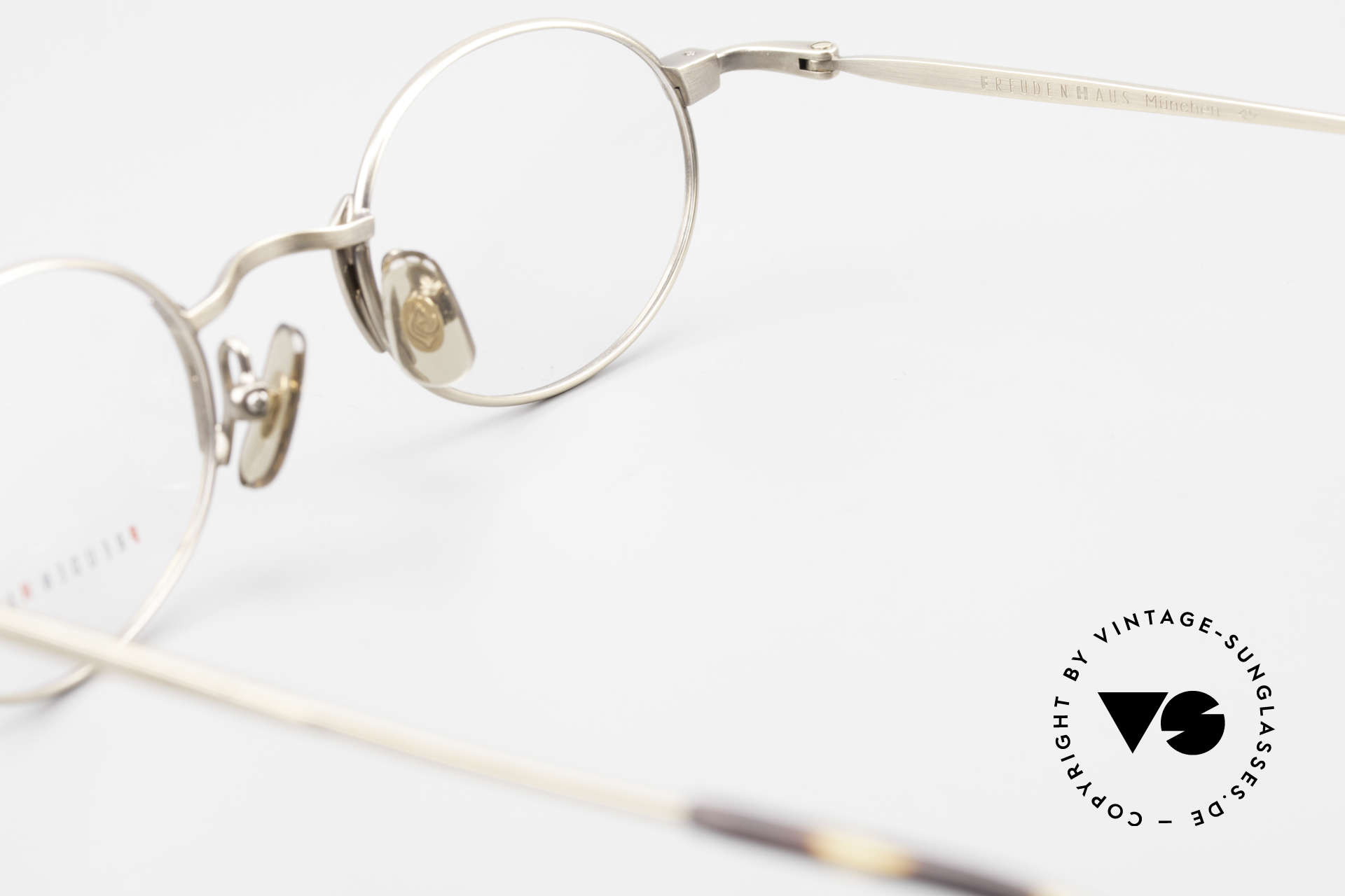 Freudenhaus Zaki Oval Titan Vintage Glasses, NO retro fashion, but an old ORIGINAL from the 90's, Made for Men and Women