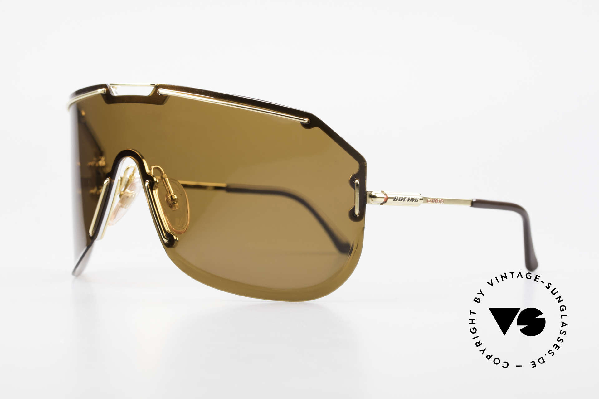 Boeing 5703 80's Luxury Pilots Shades, rotatable nose pads & gold-plated frame; truly vintage, Made for Men