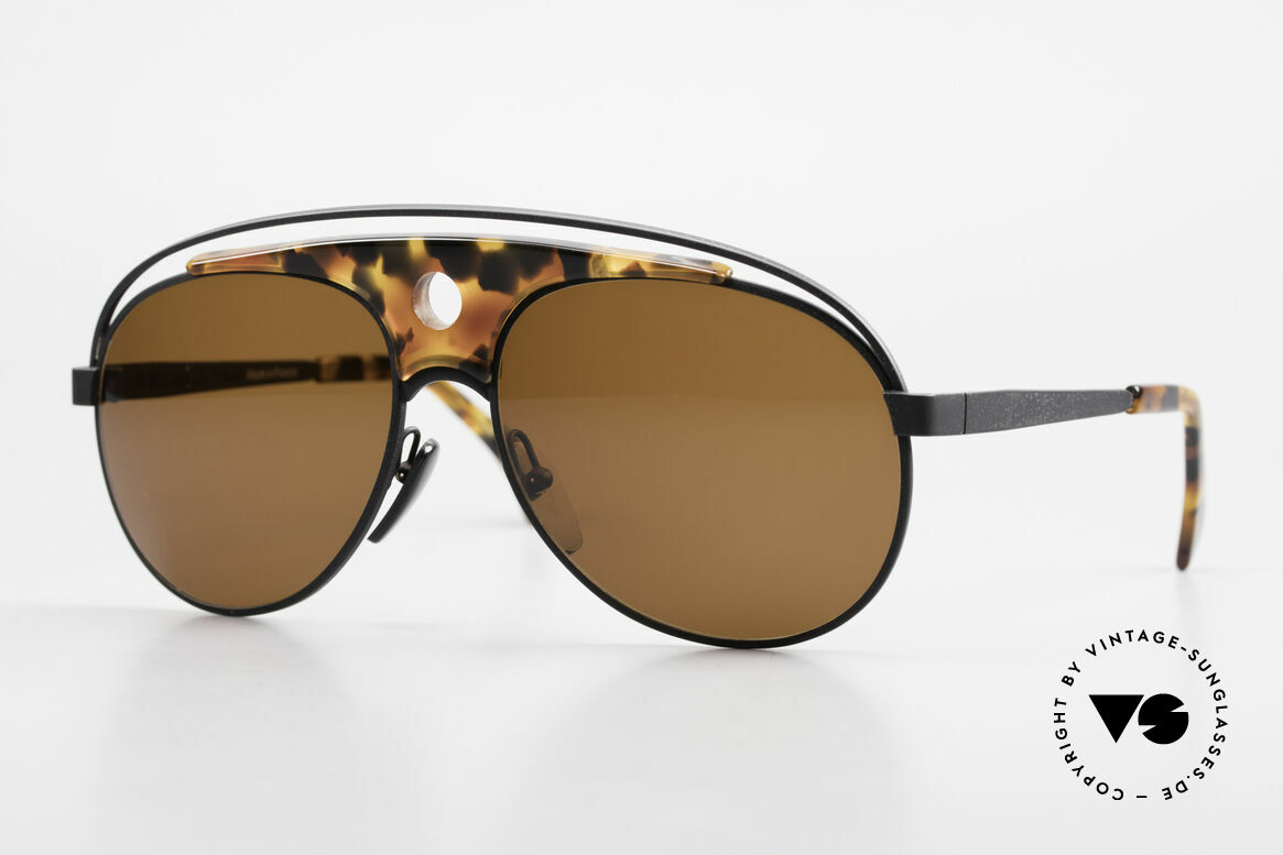 Alain Mikli 633 / 0013 Lenny Kravitz Sunglasses 80's, aviator VINTAGE designer shades by Alain Mikli, Paris, Made for Men