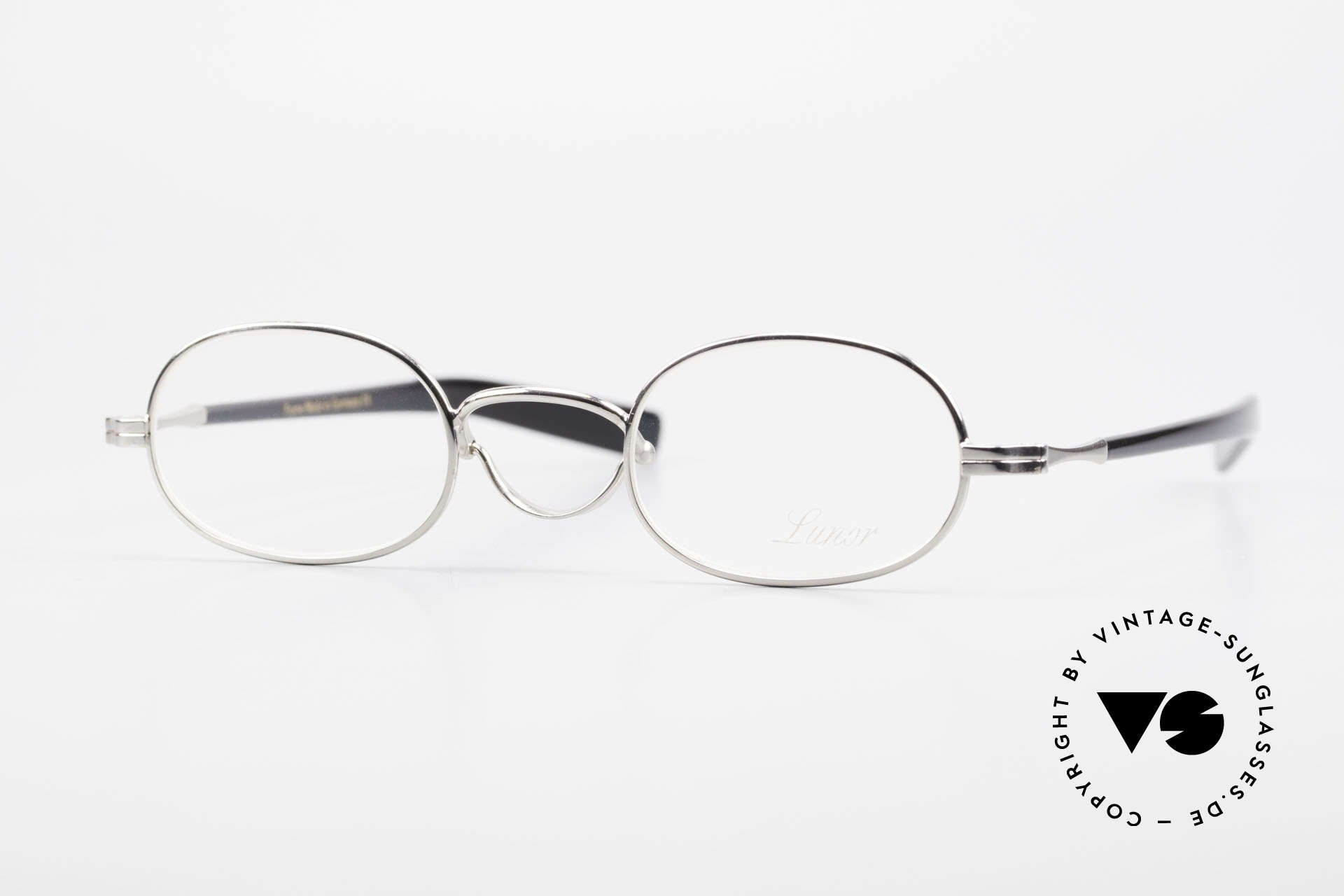 """Lunor Swing A 36 Oval Swing Bridge Vintage Glasses, LUNOR: shortcut for French """"Lunette d'Or"""" (gold glasses), Made for Men and Women"""