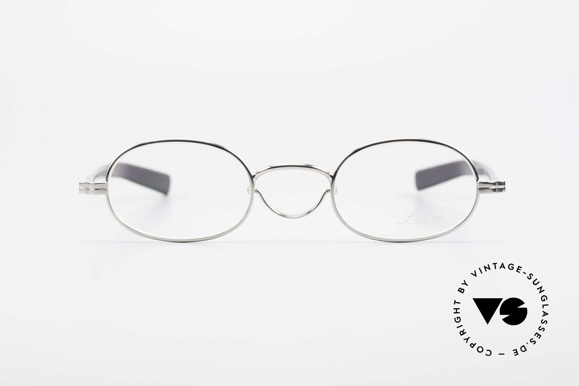 """Lunor Swing A 36 Oval Swing Bridge Vintage Glasses, well-known for the """"W-bridge"""" & the plain frame designs, Made for Men and Women"""