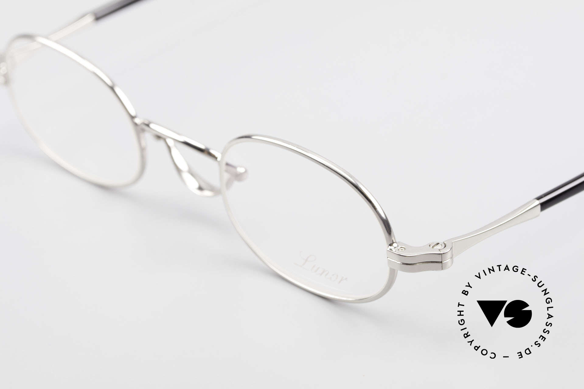 Lunor Swing A 36 Oval Swing Bridge Vintage Glasses, swing bridge = homage to the antique glasses from 1900, Made for Men and Women