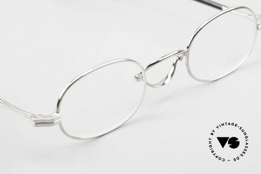 Lunor Swing A 36 Oval Swing Bridge Vintage Glasses, FRAME is PLATINUM-PLATED'; truly sophisticated specs, Made for Men and Women