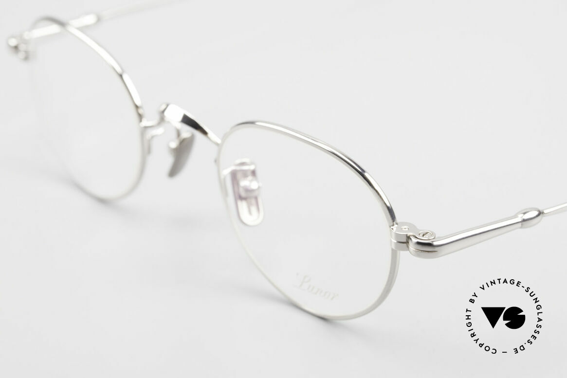 Lunor V 107 Titanium Panto Eyeglasses, from the 2011's collection, but in a well-known quality, Made for Men