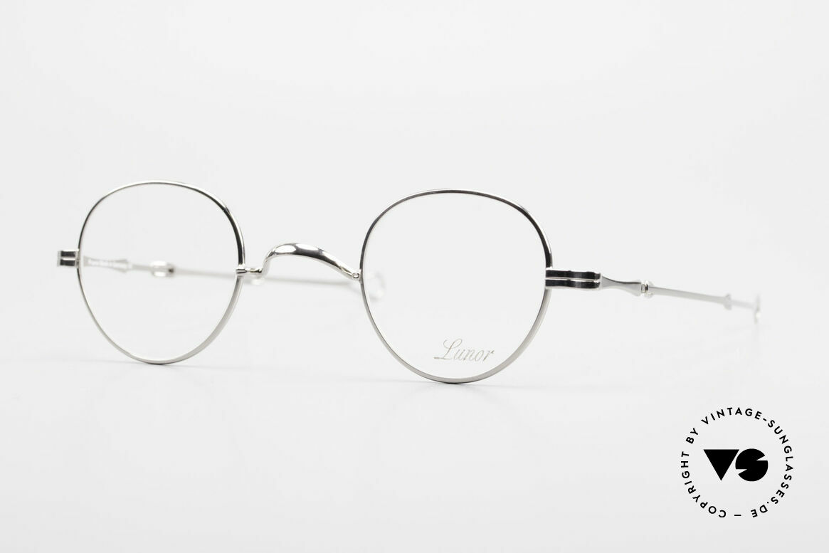 """Lunor I 15 Telescopic Extendable Slide Temples, Lunor: shortcut for French """"Lunette d'Or"""" (gold glasses), Made for Men and Women"""