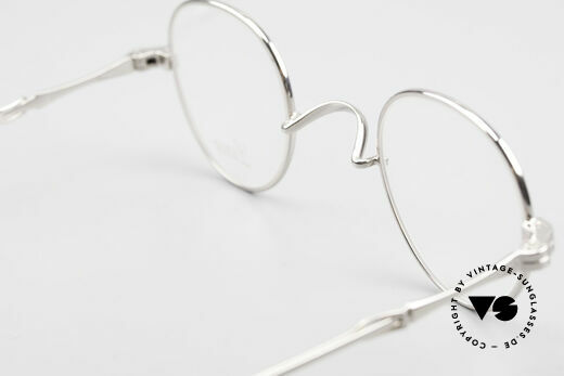Lunor I 15 Telescopic Extendable Slide Temples, this precious Lunor eyeglass-frame is PLATINUM PLATED, Made for Men and Women