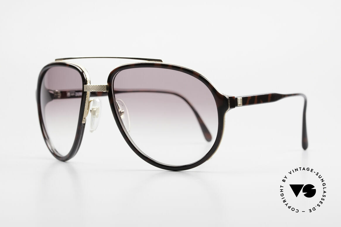 Dunhill 6105 Comfort Fit Luxury Sunglasses, gold-plated & BARLEY: hundreds of minute facets, Made for Men