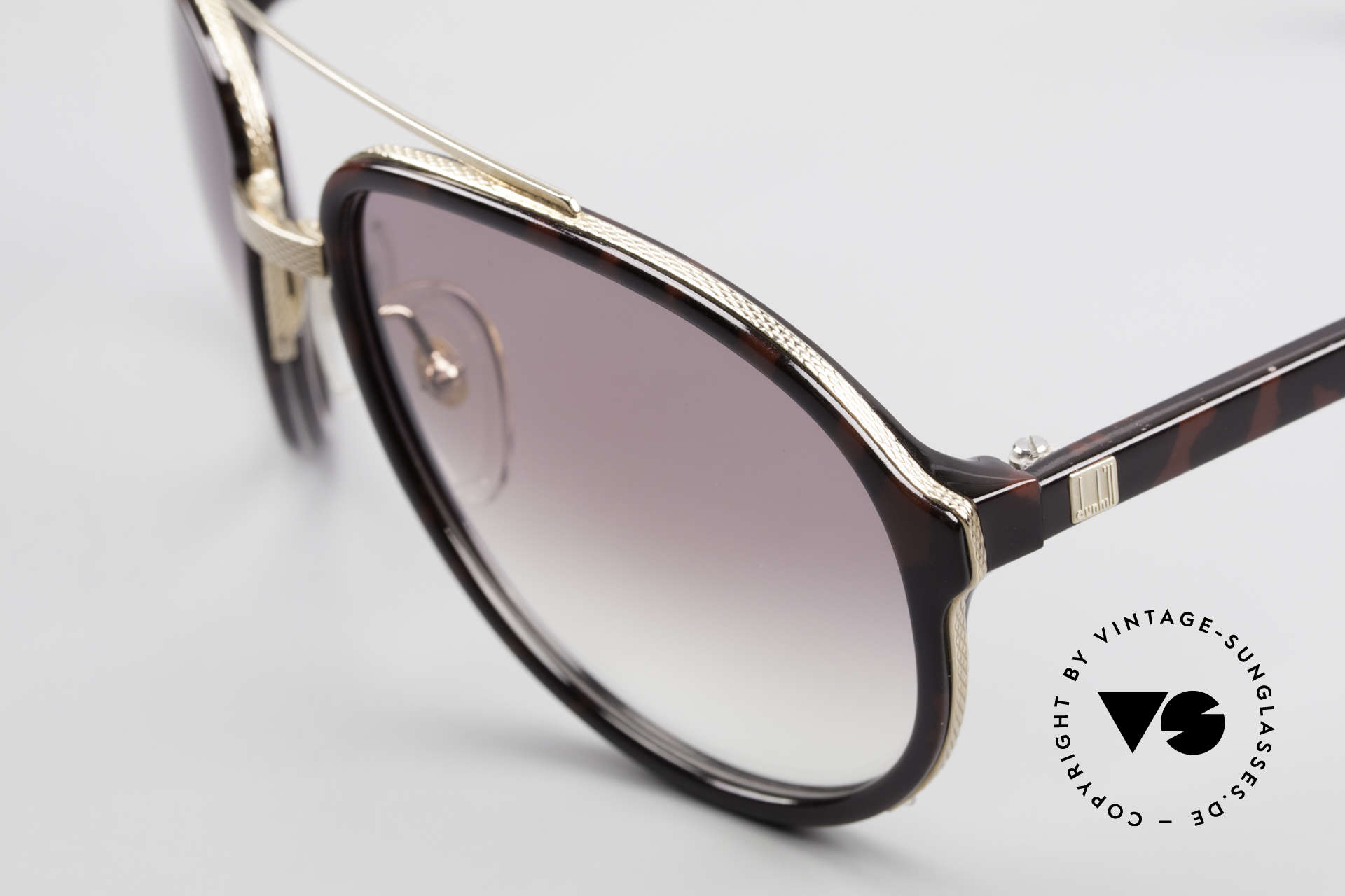 Dunhill 6105 Comfort Fit Luxury Sunglasses, elegant combination of Optyl material and metal, Made for Men