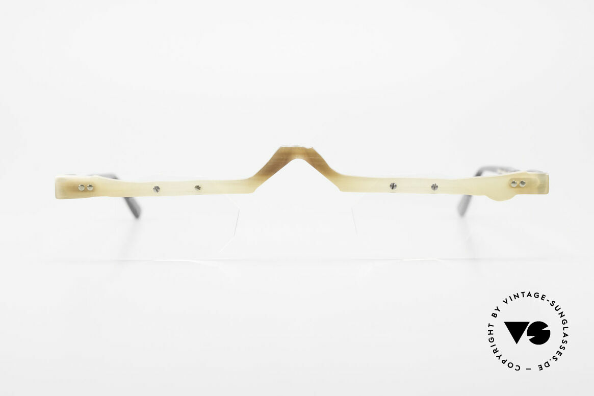 Theo Belgium Eye-Witness ACR Avant-Garde Reading Horn Frame, founded in 1989 as 'opposite pole' to the 'mainstream', Made for Men and Women