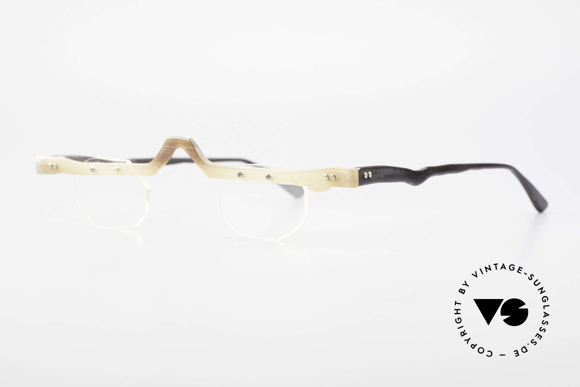 Theo Belgium Eye-Witness ACR Avant-Garde Reading Horn Frame, made for the avant-garde, individualists; trend-setters, Made for Men and Women